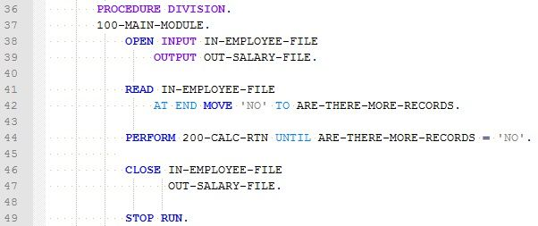 COBOL Programming Tutorials - Reading Files and Editing PIC Displays
