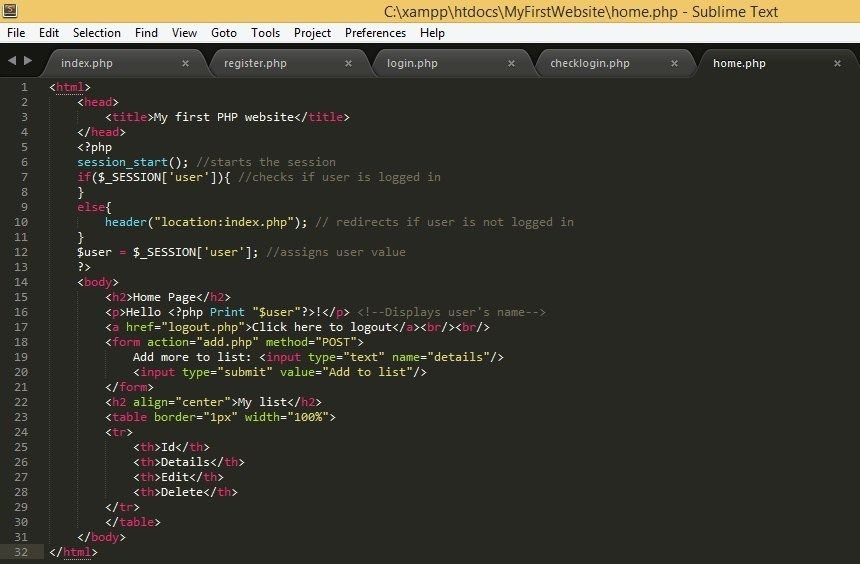 PHP Tutorials for Beginners - Creating your first PHP program FROM SCRATCH: Basic Authentication, Membership and CRUD functionalities